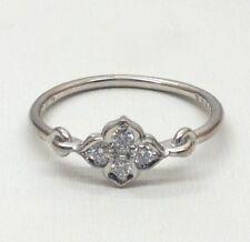 Cartier 18K Hindu White Gold Flower .12 ct tw Diamond Ring #169586