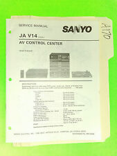 Sanyo ja v14 service manual original repair book stereo radio av control center