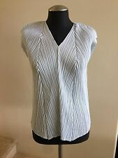 NWOT PLEATS PLEASE ISSEY MIYAKE Sleeveless Pleated Top Blouse, Size 5