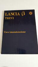 LIBRETTO USO MANUTENZIONE  LANCIA  BETA  TREVI