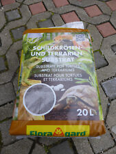 Schildkrötenerde (2 Sack je 20Liter) Floragard Bodengrund 40 Liter Substrat NEU