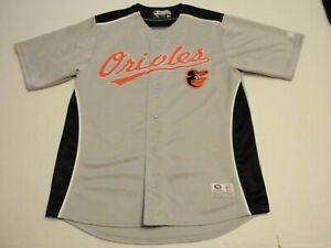 Baltimore Orioles True Fan Jersey Size Men Medium (38-40) Sewn on Patches