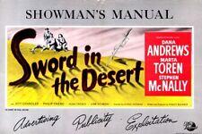 SWORD IN THE DESERT pressbook, Jeff Chandler, Phillip Friend, Hugh French