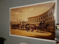 Entry Of The Toreros Bullfighters In Procession Lake Price Seville Huge Poster