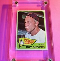 1965 Topps Baseball Card #574 Roy Sievers Senators NM NrMt High Grade!  sharp!