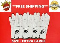 *BRAND NEW* Genuine CALLAWAY Men's LEFT HAND Breathable GOLF GLOVE - XL 4 Pack