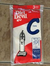 Dirt Devil Type C Vacuum Bags 3 Pk. Genuine OEM     BRAND NEW @@@@@@@@@@@@