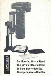 NOVOFLEX MACRO-STAND ORIGINAL INSTRUCTION MANUAL, MULTI-LANGUAGE, 1978