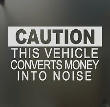 Caution this vehicle sticker racing JDM Funny drift car truck window decal