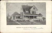 West Medway MA Dr. Butler Residence c1910 Postcard