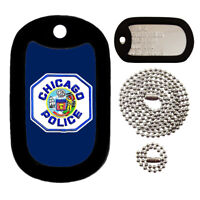 Customized Military Dog Tag - Chicago Police Patch - FULL SET - Tag-Z Dog Tags