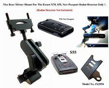 Car Mount For The Rear Mirror Escort X80, S55, RX65 New Passport Radar Detectors