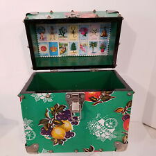 Handmade Wood One Of a Kind Mexican Travel Case Tote   Loteria Cards 10 x 10 x 6