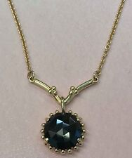 PANDORA | 14K GOLD SHINING STAR BLACK SPINEL SUNSHINE NECKLACE *NEW* 550108ME-45