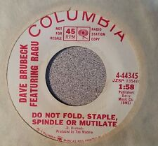Dave Brubeck Featuring Ragu – Do Not Fold, Staple, Spindle Or Mutilate (VG++)