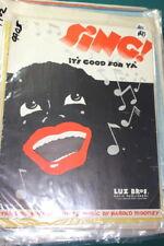 "#9905,Seldom Seen Black Americana,1932,""Sing It's Good For Ya,Sheet Music"