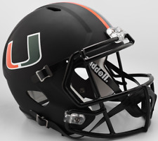 MIAMI HURRICANES NCAA Riddell SPEED Full Size Replica Football Helmet