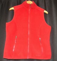 L.L. BEAN Mens Red Full Zip Sleeveless Lightweight Polartec Fleece Jacket S