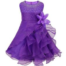 Flower Baby Girl Dress Formal Wedding Ruffle Dresses Christening Party Prom Gown