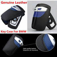 For BMW 2 3 5 Series X3 Leather Car Key Holder KeyChain Cover Case Pouch Key Bag