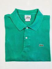 LACOSTE 7 🐊 Men's Short Sleeve Polo Shirt Size 7 - XL Green Cotton EUC