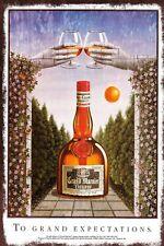 Grand Marnier Liqueur Vintage Retro Style Metal Plaque Sign, bar, pub, man cave