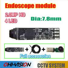 2.0MP HD Mini 7.8mm USB Endoscope Module for DIY1600*1200 Inspection Camera 4LED