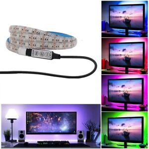 LED TV Backlight Strip Lights 1M 5V LED TV Back Lights Multi Color RGB 5050 USB