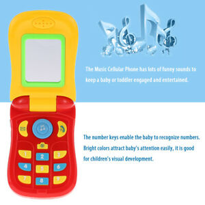 Coolplay Colorful Baby Music Cellular Phone Toy Flip Diary Case Cover For Baby