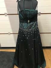 Gino Cerutti Prom Dress 2016A UK14 Midnight Green