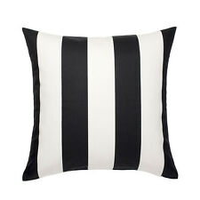 IKEA VARGYLLEN DECORATIVE BLACK WHITE STRIPE PILLOW COVER CUSHION COVER 20x20""