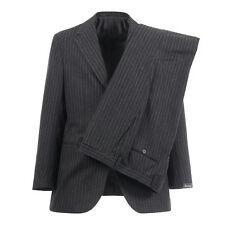 SARTORIO by Kiton Wool Suit 44US 54EU 3-Roll-2 Dark Gray Pinstripe Made in Italy