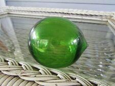 "Antique 9"" Green Glass Fishing Float"