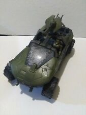 """Halo Warthog and one 3"""" Action Figure Windshield Shot Up"""