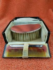 More details for antique sterling silver hallmarked  brush comb set 1927, william devenport