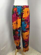 VTG 80s HIP HOP Tribal Lounger Pants M Floral Parachute Tapered Pants Geometric