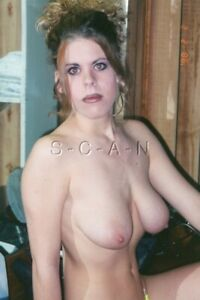 Vintage Nude Color Real Photo- Super Endowed Burnette- Fancy Hairdo- Close Up #9