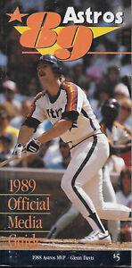 1989 Houston Astros Media Guide  BIGGIO-DAVIS-CAMINITI-SCOTT