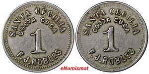 Guatemala Token F.J.Robles Santa Cecilia 1 Real (c.1890) ND Rulau Gma281 VF