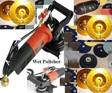 Wet Concrete Polisher 5 Cup 20 Pad quartz Granite Travertine stone fabrication