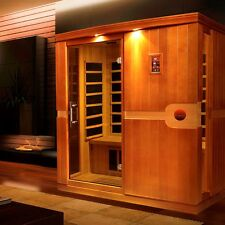Dynamic 3 Person Low EMF Far Infrared Sauna (Madrid Edition), 8 Carbon Heaters