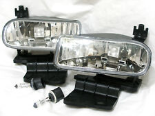 For 00-06 Suburban Tahoe 99-02 Silverado Fog Light Lamp RL H One Pair W/2 Bulbs