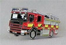 Fire engine pin badge. Fire brigade. Fireman Firefighter
