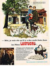 PUBLICITE  1966    LUSTUCRU  pates alimentaires