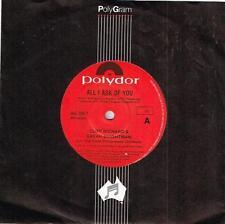 "CLIFF RICHARD & SARAH BRIGHTON - ALL I ASK OF YOU - 7"" 45 VINYL RECORD - 1986"