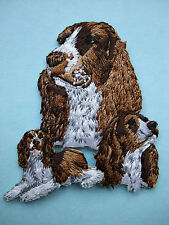 IRON-ON EMBROIDERED PATCH - ENGLISH SPRINGER SPANIEL