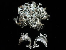 Tibetian Silver Lead Free Pewter Charms/Dolphin