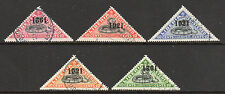 1921 Liberia SC F25-F29 Used Triangle Set of 5 - Snake Registration Overprint*