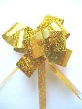 10pcs Sparkling Metallic Pull Flower Ribbons Gift Wrap