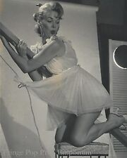 8x10 Print - Gil Elvgren Pin Up Painting Ref Photograph - Pinup on Bannister
